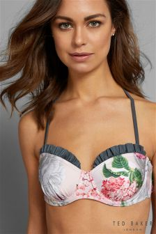 Ted Baker Pink/Grey Esife Palace Gardens Underwired Bikini