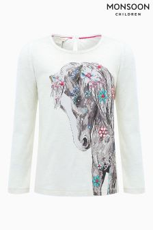 Monsoon Ivory Hettie Horse Top