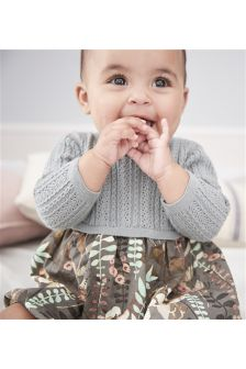 Knit Print Dress (0mths-2yrs)