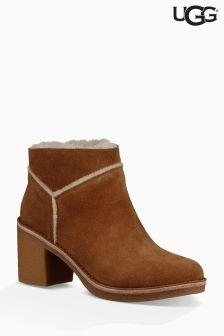 UGG® Chestnut Kassen Suede Sheepskin Heel Ankle Boot