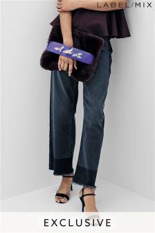 Mix/Osman Black Washed Straight Leg Panelled Jean