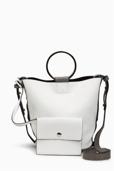 Mini Ring Detail Bucket Bag