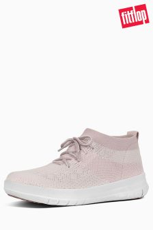 Fitflop™ Neon Blush/White Uberknit Slip On High Top Sneaker