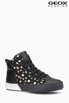 Geox Jr Black/Gold Kalispera Girl Sneaker