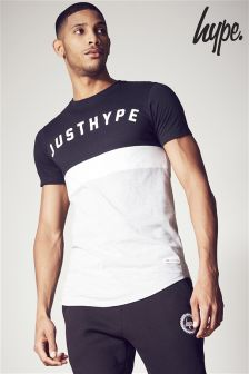 Hype Grey/Black Colourblock T-Shirt