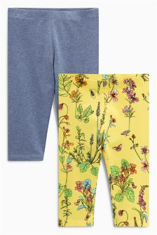 Cropped Leggings Two Pack (3-16yrs)