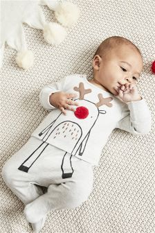 Reindeer Sleepsuit (0mths-2yrs)