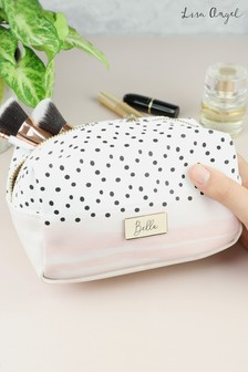 Personalised Polka Dot Wash Bag By Lisa Angel