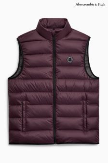 Abercrombie & Fitch Burgundy Padded Gilet