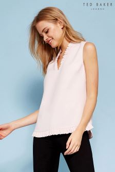 Ted Baker Nude Kayti Sleeveless Ruffle Top