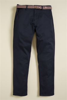 Belted Smart Chinos
