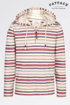 Fat Face Oatmeal Minsted Stripe Overhead Sweat