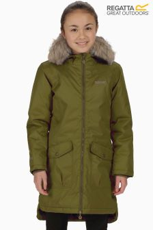 Regatta Cypress Green Hollybank Waterproof Insulated Parka Jacket