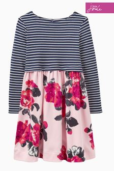 Joules Pink Floral Print Dress