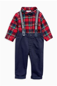 Tartan Four Piece Smart Set (0mths-2yrs)