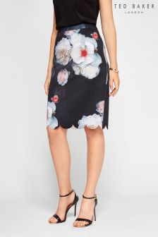 Ted Baker Black Laylie Floral Pencil Skirt