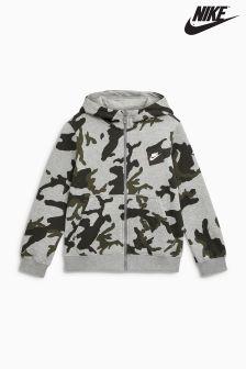 Nike Camo All-Over-Print Zip Through Hoody