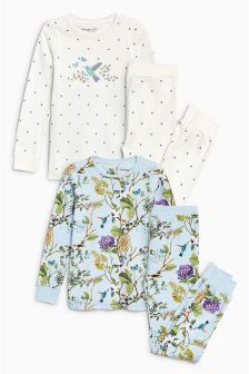 Floral Snuggle Pyjamas Two Pack (9mths-8yrs)