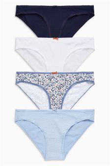 Cotton Bikini Briefs Four Pack