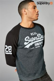 Superdry Vintage Logo Raglan Crew Sweater