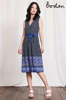 Boden Blue Scarf Ellie Dress