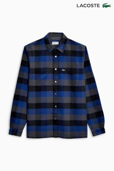 Lacoste® Blue/Grey Check Shirt