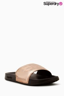 Superdry Rose Gold Pool Slider