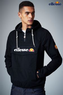 Ellesse Black Half Zip Windbreaker Jacket