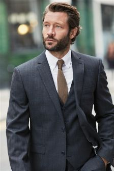 Check Tailored Suit: Waistcoat