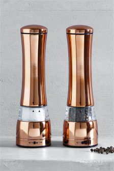 Rose Gold Effect Salt And Pepper Grinders