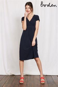Boden Navy Casual Jersey Dress