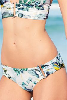 Printed Metal Trim Bikini Briefs