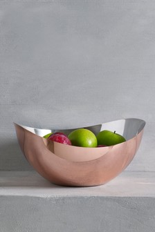 Rose Gold Effect Fruit Bowl