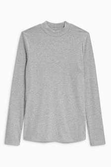 Long Sleeve High Neck Top