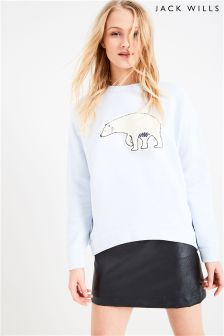 Jack Wills Blue Polar Bear Crew