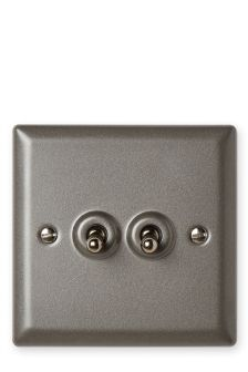 Salvage Double Toggle Light Switch