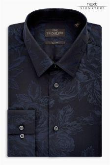 Signature Floral Jacquard Slim Fit Shirt
