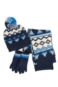 Geo Hat, Scarf And Gloves Set (Older Boys)