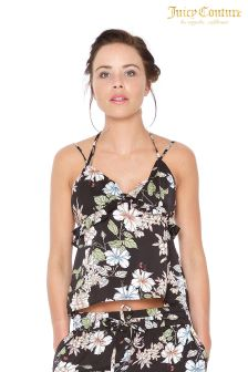 Juicy Couture Black Floral Camisole