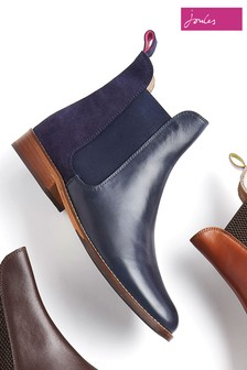 Joules Navy Leather Chelsea Boot