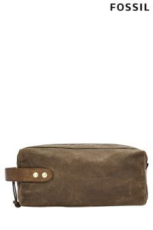 Fossil™ Waxed Canvas Washbag