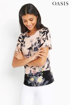 Oasis Multi Pink Floral T-Shirt