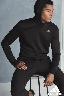 adidas Black Clima Zip Through Hoody