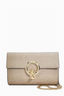 Ring Detail Clutch Bag