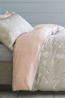 Cotton Sateen Pretty Floral Bed Set
