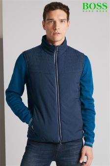 Boss Green Navy Vhero Gilet