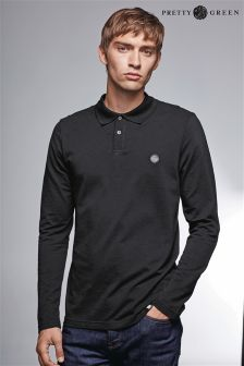 Pretty Green Hartford Long Sleeve Logo Polo