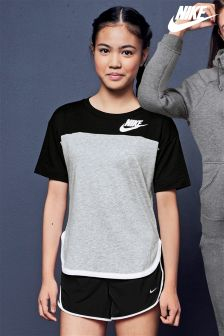 Nike Black/Grey Colourblock T-Shirt