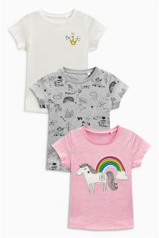 Unicorn T-Shirt Three Pack (3mths-6yrs)