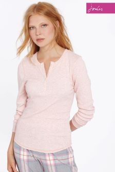 Joules Pink Ribbed Dormi Top
